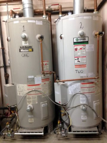 Dual water heaters installed by ANS Plumbing