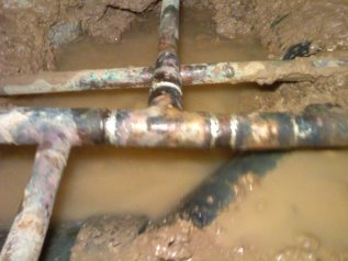 Under slab drain pipes fixed by ANS Plumbing