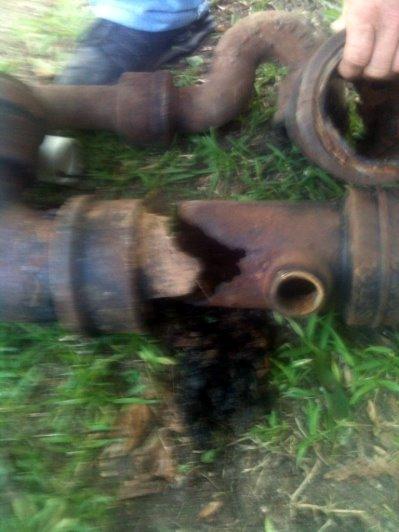 Broken drain pipe